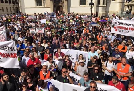 Udruga Franak u petak prosvjeduje na Markovom trgu