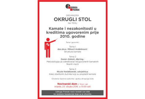 OKRUGLI STOL UDRUGE FRANAK