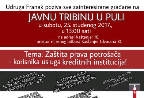 PULA – besplatna edukacija o zaštiti potrošača korisnika kreditnih usluga