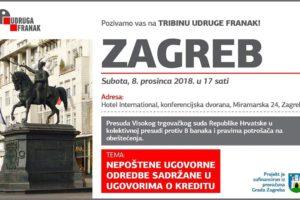 ZAGREB – JAVNA TRIBINA – SUBOTA – 08.12.