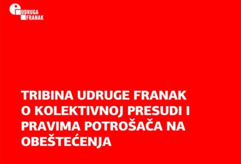 Prezentacija o kolektivnoj presudi u slučaju franak i pravima potrošača na temelju presude