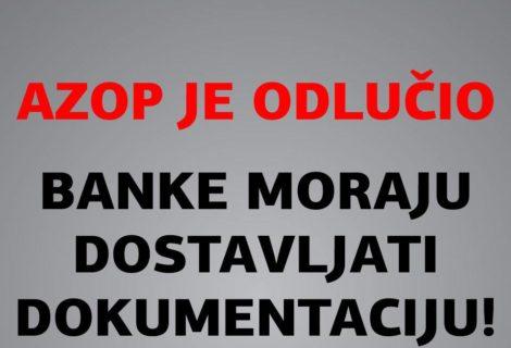 BANKE KOJE NISU HTJELE DOSTAVLJATI DOKUMENTACIJU, KRŠE HRVATSKO I EU PRAVO!