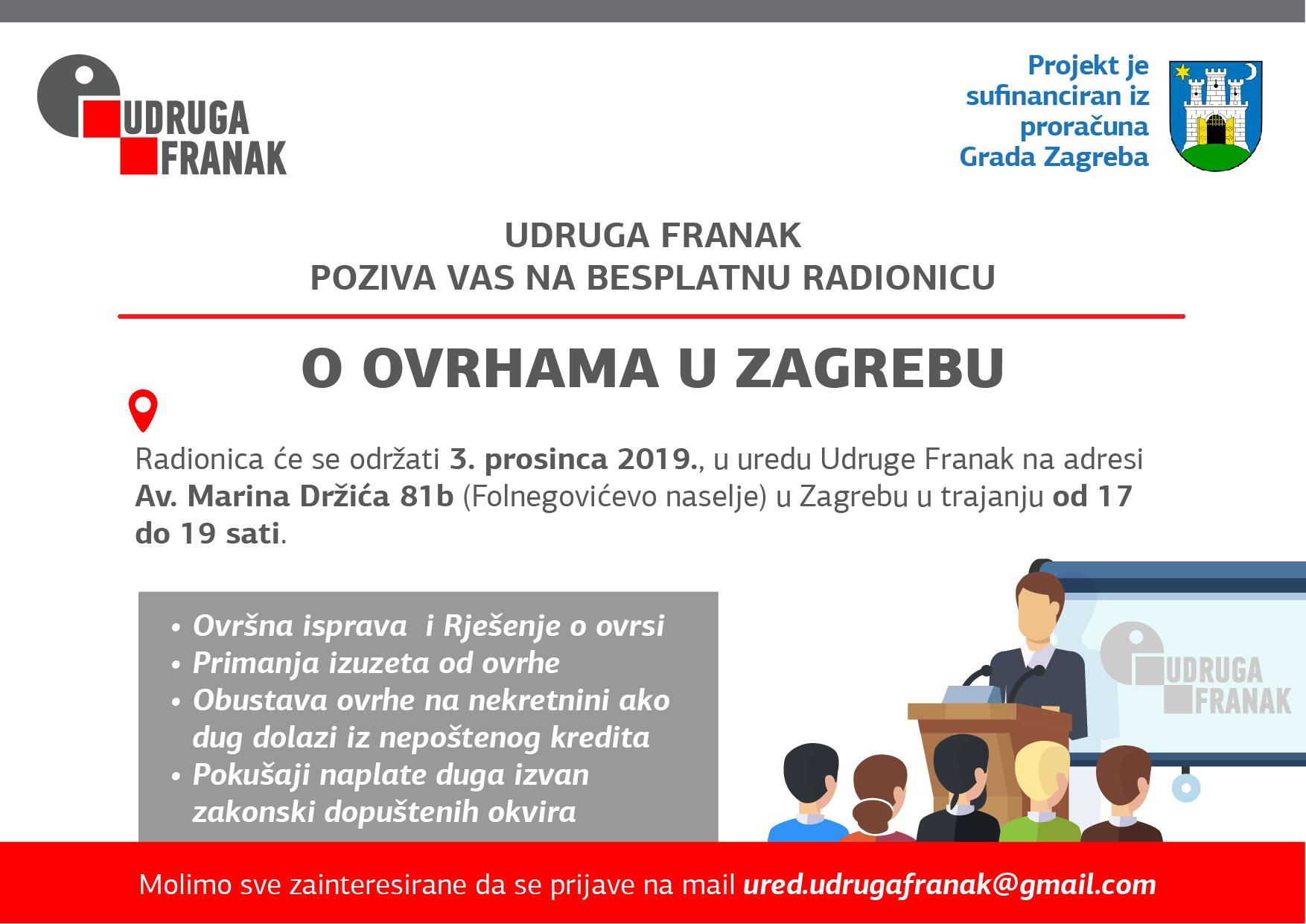 BESPLATNA RADIONICA O OVRHAMA U ZAGREBU – 3. prosinca 2019.