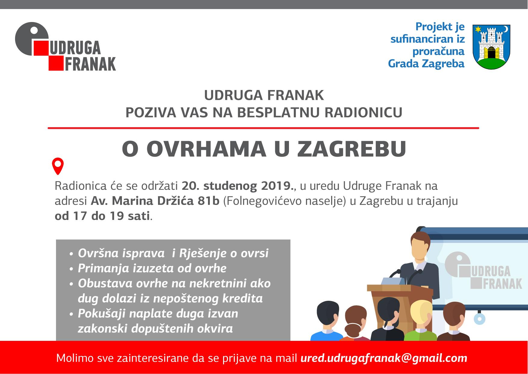 POZIV NA BESPLATNU RADIONICU O OVRHAMA U ZAGREBU 20.11.2019.