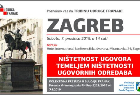 TRIBINA UDRUGE FRANAK U ZAGREBU – NIŠTETNOST UGOVORA TEMELJEM NIŠTETNOSTI UGOVORNIH ODREDABA