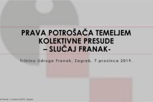 PRAVA POTROŠAČA TEMELJEM KOLEKTIVNE PRESUDE – SLUČAJ FRANAK