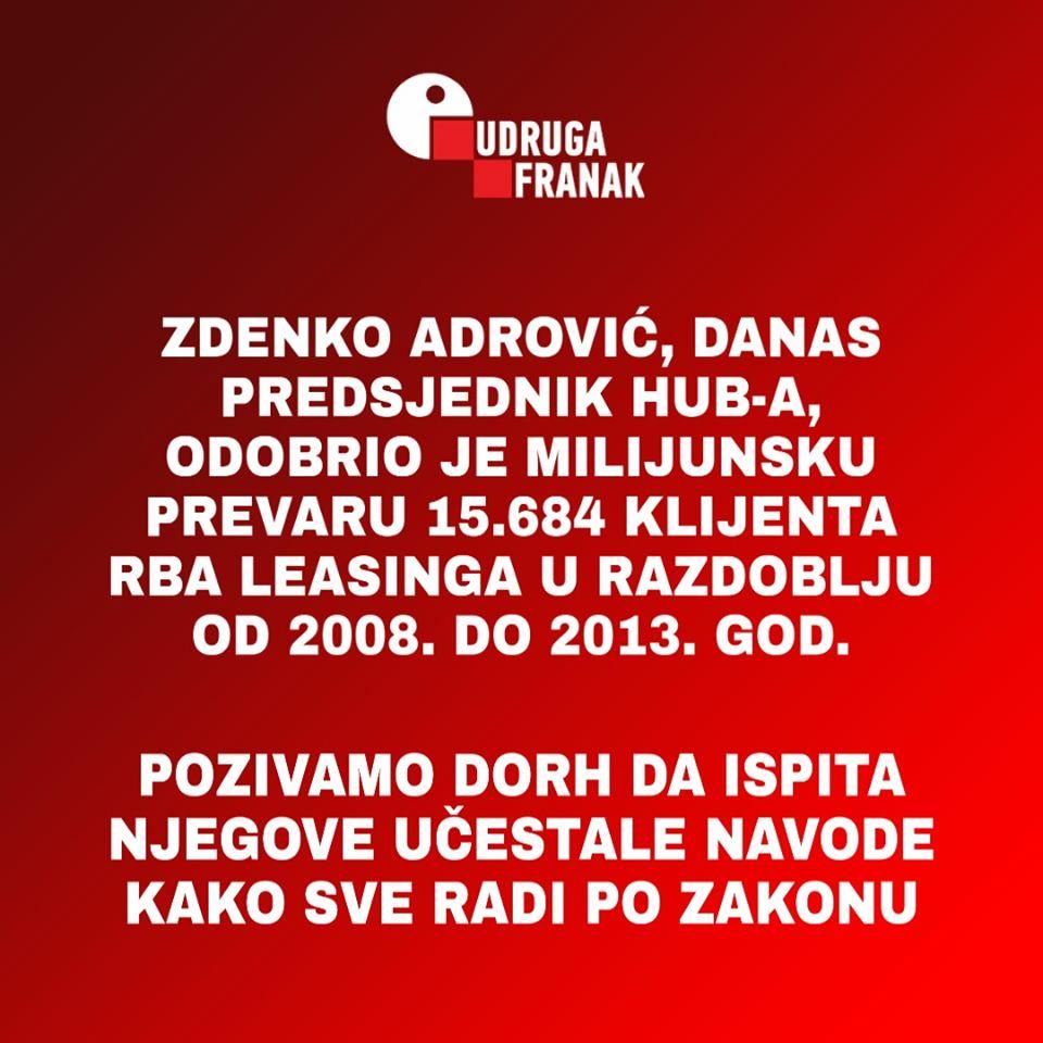 ZDENKO ADROVIĆ, KAO ŠEF NADZORNOG ODBORA, ODOBRIO JE VIŠEMILIJUNSKU PREVARU 15.684 KLIJENTA RBA LEASINGA U RAZDOBLJU OD 2008. DO 2013. GOD.