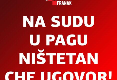 OPĆINSKI SUD U ZADRU, SLUŽBA U PAGU, DOSUDIO NIŠTETAN CHF UGOVOR I 1.165.000 KUNA KOJE ZAGREBAČKA BANKA MORA VRATITI POTROŠAČU!