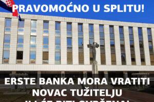 ŽUPANIJSKI SUD U SPLITU PRESUDIO PRAVOMOĆNO PRESUDOM Gž-400/21 U KORIST POTROŠAČA S KONVERTIRANIM KREDITOM!